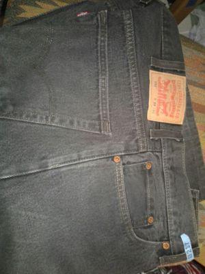 Levi black heavy-duty jeans 550 38 X 30 for Sale in Denver, CO