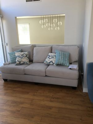 Dove colored luxury couch for Sale in Las Vegas, NV