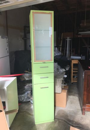 Kitchen/multi purpose cabinet light green for Sale in Los Angeles, CA