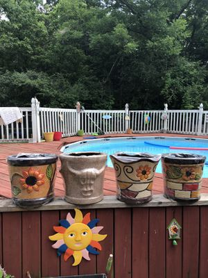 Clay flower pots for Sale in Livingston, TX