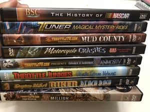 Used like new Motorcycle and car racing DVDs for Sale in Sunrise, FL