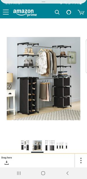 CLOSET ORGANIZER- FREESTANDING WHITMOR WITH SHOE RACK for Sale in Pompano Beach, FL