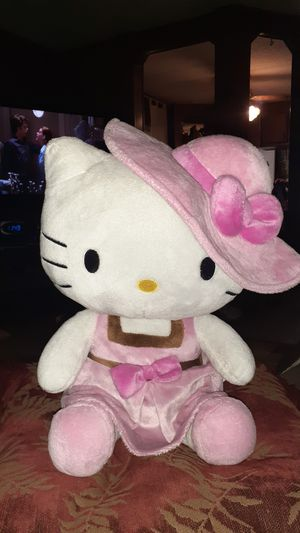 Hello Kitty in Pink Dress and Hat, Multi Color 13 inch for Sale in Houston, TX
