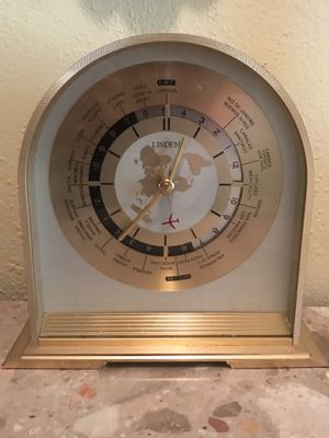 Antique linden world clock for Sale in Carlsbad, CA