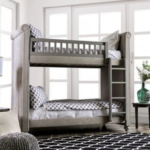 Twin over twin bunk bed on sale @Elegant Furniture 🛋🎈 for Sale in Fresno, CA