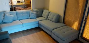 SECTIONAL SOFA SET WITH OTTOMA $500 for Sale in Cabazon, CA