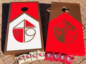 Cornhole boards and bags (San Francisco 49ers) for Sale in Placentia, CA