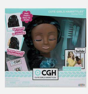 CGH Cute Girls Hairstyles! Styling Head - Black Wavy Hair Doll African American for Sale in Avondale, AZ