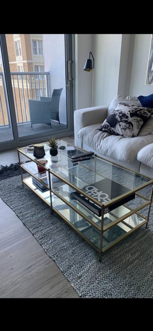 West Elm Gold Coffee Table $220 for Sale in Tampa, FL