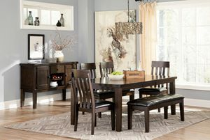 Ashley Furniture Dining Set, Rustic Brown Finish for Sale in Garden Grove, CA