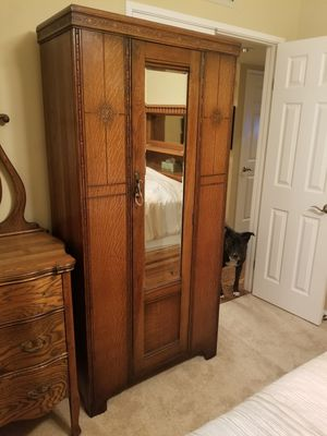Antique quarter sawn oak armoire for Sale in San Diego, CA