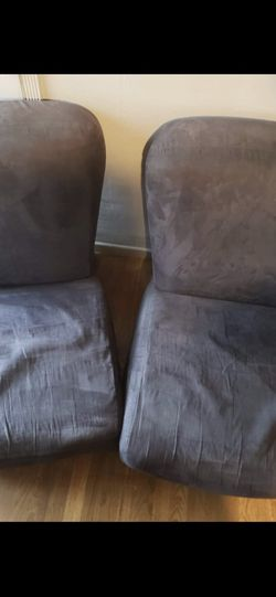 Black Suede Sofa Chairs. 2pcs for Sale in Pomona,  CA