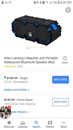 Altec life jacket bluetooth speaker for Sale in Minneapolis, MN