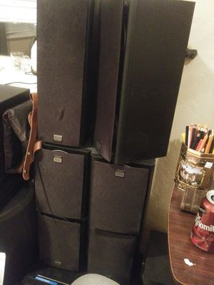 THX 6 speakers off brand sub and reciever for Sale in Pinetop-Lakeside, AZ
