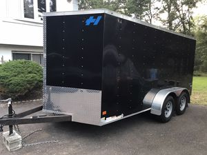 2019 Haulmark Enclosed 7x16 V-Nose Trailer New Condition for Sale in Mount Laurel Township, NJ