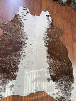 Authentic Cow Skin Rug (Handmade In TX) for Sale in Fairmont,  WV