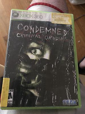 Condemned criminal origins Xbox 360 game for Sale in Dearborn, MI