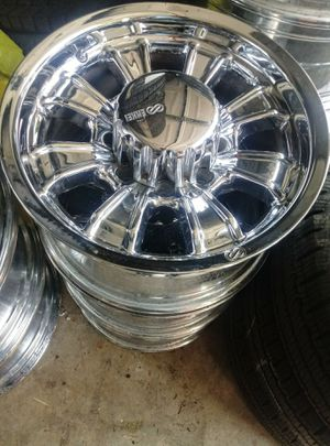 Set 4 rims no tires 17 inch 8holes 8x165 dodge, chevy for Sale in Vancouver, WA