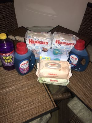 Persil, huggies wipes, pampers wipes, and pinesol 🎉 for Sale in Pensacola, FL