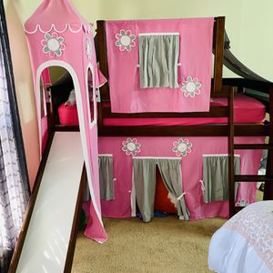 Girl Princess Castle Bed W/ Slide for Sale in Sugar Land, TX