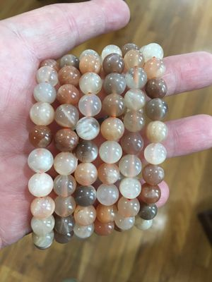 Peach moonstone stretchy bracelets for Sale in San Antonio, TX
