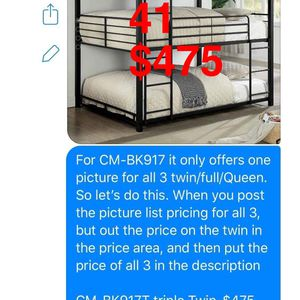 Furniture. Bunk bed. Trundles are $100 Mattresses are extra. Assembly required. Free delivery. for Sale in Torrance, CA