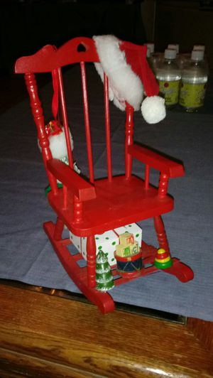 Rare Holiday Vintage Mini Red Musical Rocking Chair. for Sale in Hannibal, MO