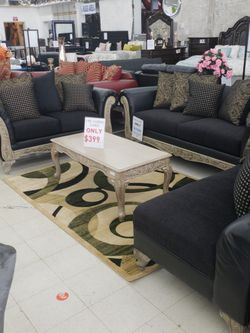 New Arrival Sofa&loveseat Only Available In Black and Red for Sale in Detroit,  MI
