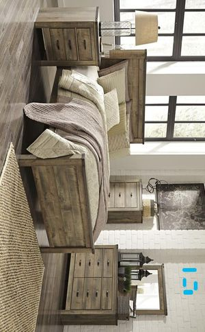 Trinell Brown Panel Bedroom Set | B446 Queen and King size bed frame Dresser Mirror Nightstand for Sale in Houston, TX