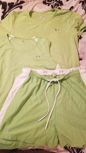Under Armor Run/Workout Set, XL tops, L shorts for Sale in Littleton, CO