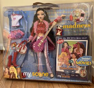 """RARE 2004 VINTAGE FIGURES MY SCENE """"MASQURADE MADNESS"""" ROCKER GIRL NOLEE DOLL + DVD ENGLISH edition by Mattel ! Barbie dolls collection for Sale in Bristow, VA"""