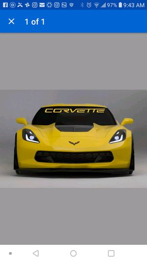 Chevy corvette windshield banner decal for Sale in Silver Lake, WI