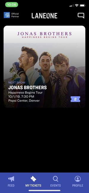Jonas Brothers Concert Tickets-Denver for Sale in Colorado Springs, CO
