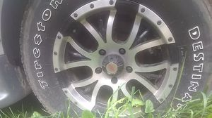 "Rims-5 Bolt 17"" with Firestone tires for Sale in Knapp, WI"