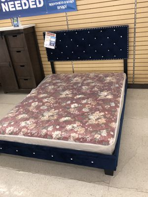 BRAND NEW QUEEN BED FRAME ONLY with mattress $350 for Sale in North Richland Hills, TX