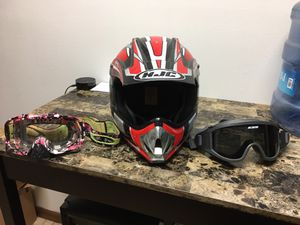 HJC helmet (medium) Oakley goggles and ESS goggles for Sale in Niceville, FL