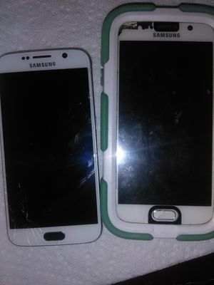 2 Samsung S6 great phones for part's $60 for pair for Sale in Denver, CO