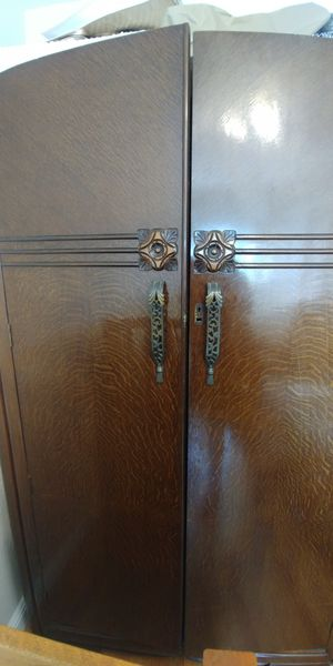 Solid Wood Antique Armoire $300 for Sale in Oakland, CA