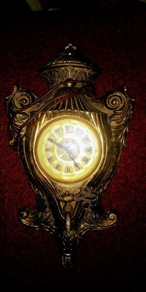 United Clock Company Brass Clock Spout Electric Wall Decor Antique for Sale in Dover, TN