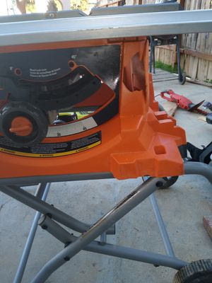 Ridgid jobsite table saw electric please read description for Sale in Moreno Valley, CA