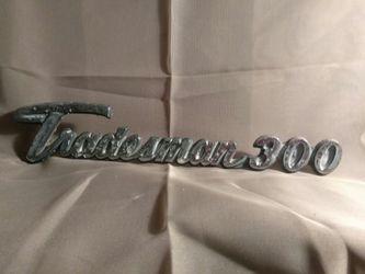 Vintage Dodge 1970's Original Tradesman 300 Trailer/RV)Emblem/Badge/Ornament/ Sign Chrome for Sale in Port Huron,  MI