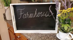 Very Large Farmhouse Wood and Metal Tray for Sale in Arnold, MO