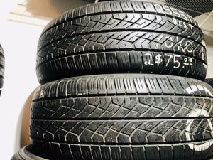 Two Yokohama 225/55/17 All Season Used Tires with 60% Tread for Sale in Fort Wright, KY