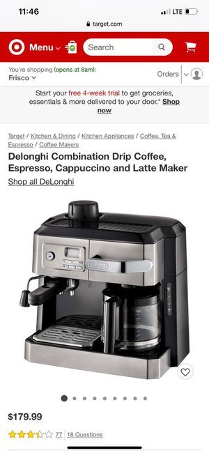 Delonghi Coffee Maker for Sale in Irving, TX