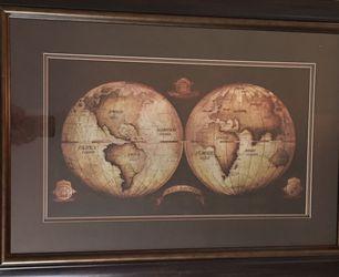 Wall Art- World Map for Sale in Dillwyn,  VA