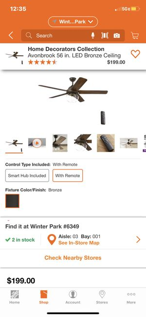 """56 """" Home Decorations ceiling fan Avonbrook led for Sale in Lockhart, FL"""