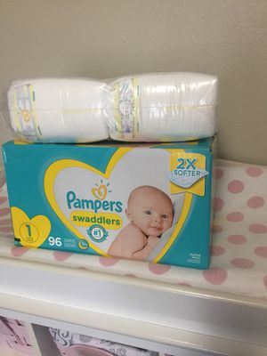 Pampers swaddlers size 1...total 144 Diapers for Sale in Dallas, TX