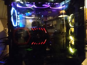 Gaming PC in Glass Case 6 RGB Fans for Sale in Bristol, IN