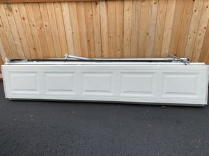 7' garage door panels and track for Sale in Seattle, WA