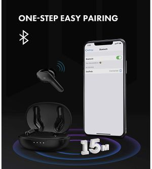 Brand New True 5.0Wireless Earbuds Headphones Bluetooth 5.0 in Ear with True Wireless Stereo Mic Headset Charging Case, for iPhone 11 Pro Max/Xs Max for Sale in Hayward, CA